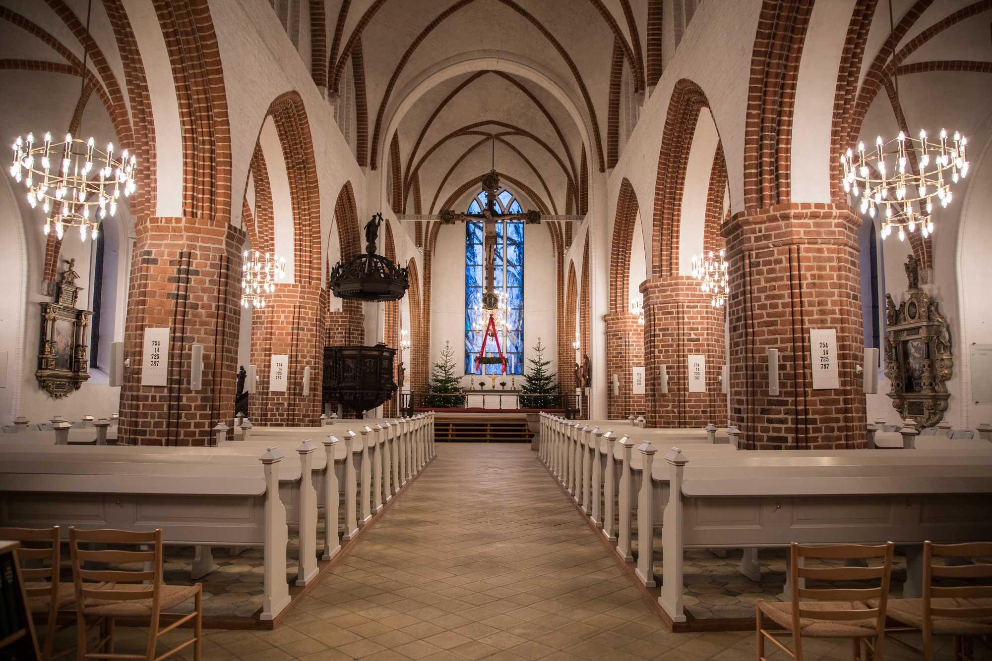Nyborg kirke belysning